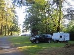 The 'Rain Forest Resort' on Lake Quinault where the worlds largest spruce tree is located
