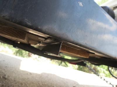Angle iron braces