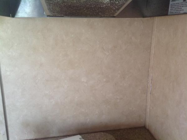 Wall after removing wallpaper border