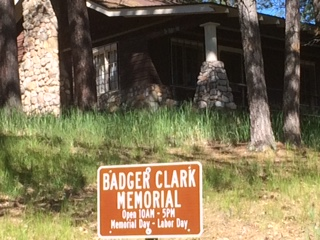 This gentleman stayed in Custer Park in this cabin and wrote poetry