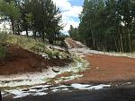 Snow alongside the road to Cripple Creek.  At first, thought it was fire retardant due to recent fires!