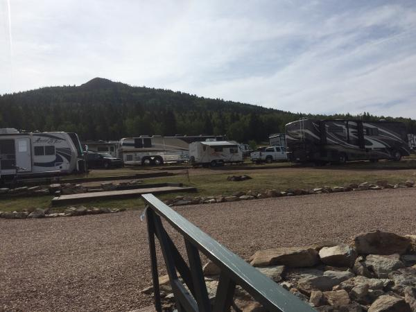 View of campground from road