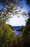 Temperance River looking from Falls to Lake Superior; Lake Superior, MN