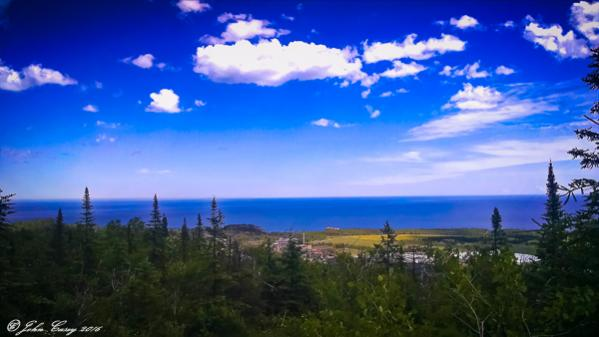 Lake Superior (Silver Bay) Overlook from Overlook Near Silver Bay, MN