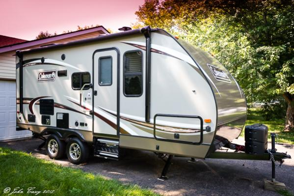 2018 Dutchman, Coleman Light 1805RB; Our new Trail in Driveway
