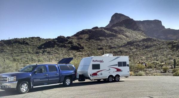 Picacho Peak Park, I-19 North of Tucson; Picacho Peak in Background; Picacho, AZ