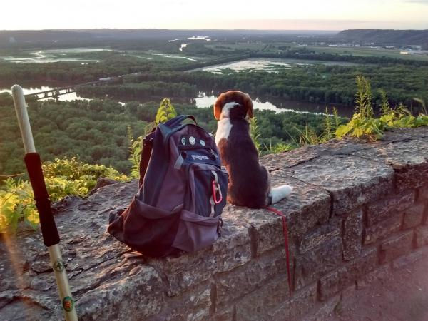 Camping at Wyalusing State Park, Prairie du Chien, Wisconsin