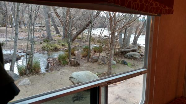 A river view spot at Camp James on the upper Kern River