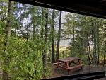 View toward Lake Huron at Castle Rock Camp Park, site 80