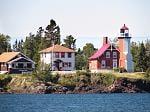 Eagle Harbor Lighthouse, Eagle Harbor in the Keewenaw Peninsula of Michigan