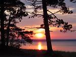 Munising sunset along Lake Superior