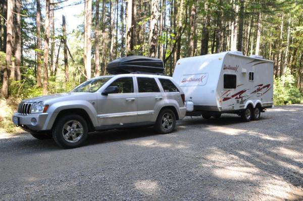 We are on our way to Klahowyah park in the Olympic National Forest.  Loaded down like this we got 15.6 mpg.
