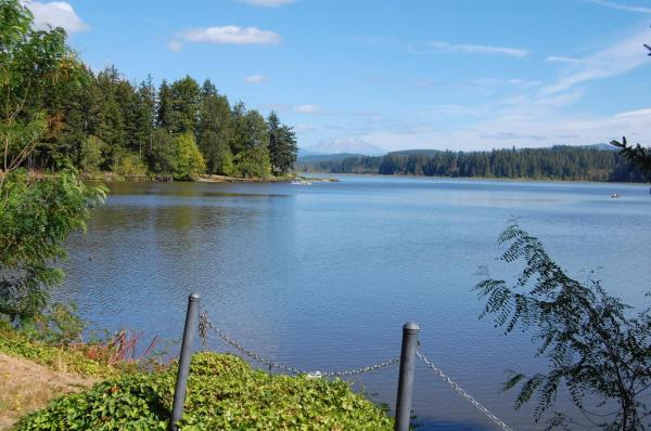 Near Seaquest State Park, this is a view of Mt. St. Helens across Silver Lake.