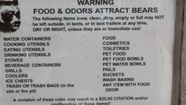 They are serious about not attracting bears