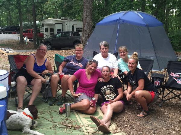 A bunch of crazy girls at Lake Hartwell State Park