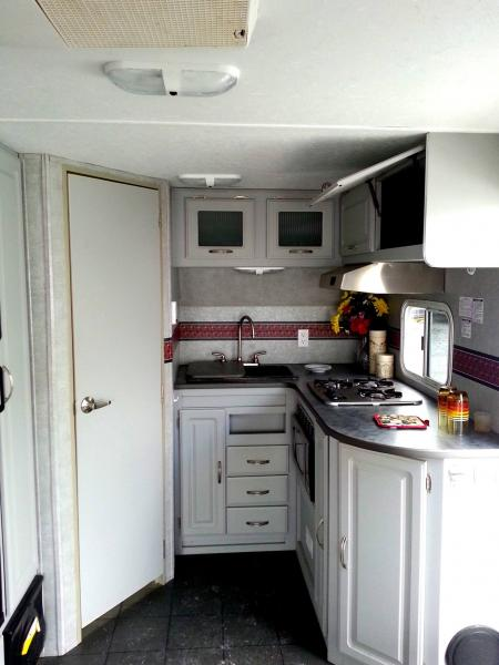 We love that the interior of our camper isn't brown!  :D