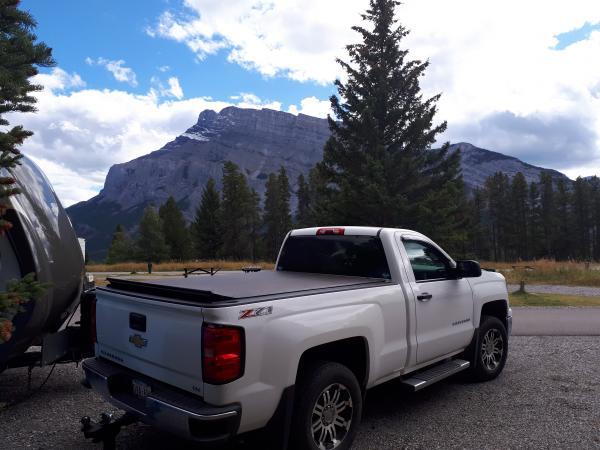 Banff Alberta camping in Sept 2018