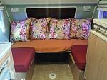interior- My modifications. Permenent twin bed with seating for 2-3. I have a small table top coming.