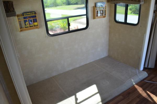Slideout space after removal of the dinette