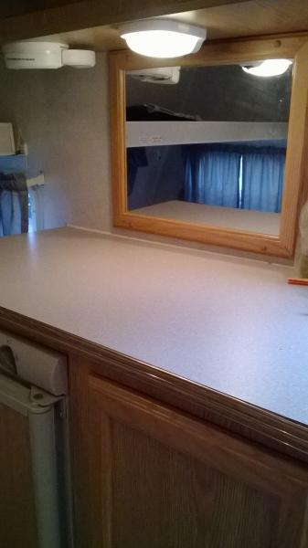 counter top and mirror