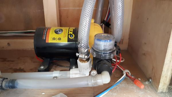 The original shur-flo pump sprung a leak last year, replaced it with this one off Amazon.  Really easy to change.