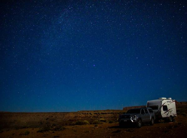 Moonlight, Goosenecks, Utah, Oct. 3, 2015